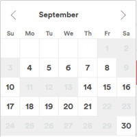 calendar- the month of September