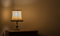 lamp on a table